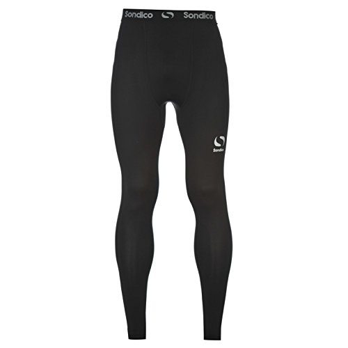 Sondico Mens Core Tights Compression Fit Exercise Sports Baselayer Bottoms Black M