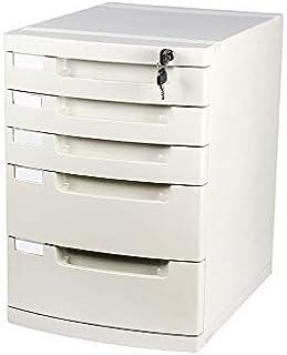 KANJJ-YU Bureau de stockage Expander, Unité de stockage Organisateur tiroir verrouillable Sorter A4 Boîte for bureau blanc...