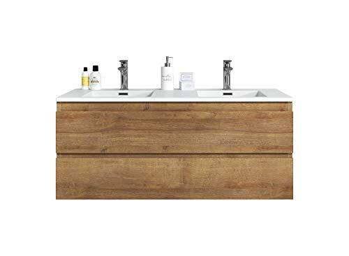 Badezimmer Badmöbel Set Angela 120cm F. Oak - Unterschrank Schrank Waschbecken Waschtisch
