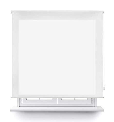 DABUTY ONLINE, S.L. Estor translúcido Liso para Ventana. Estores Enrollables para Ventanas y Puertas (Blanco, 120 x 180 cm)