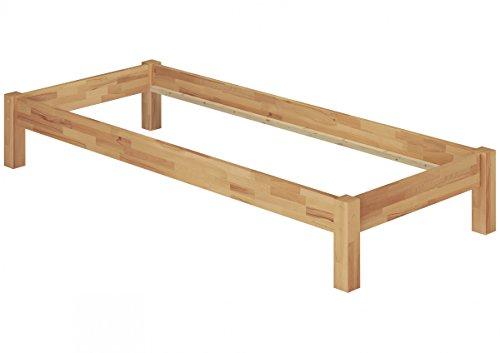 Erst-Holz® Einzelbett Jugendbett Gästebett 100x200 Buche massiv Bettgestell ohne Zubehör 60.84-10 oR