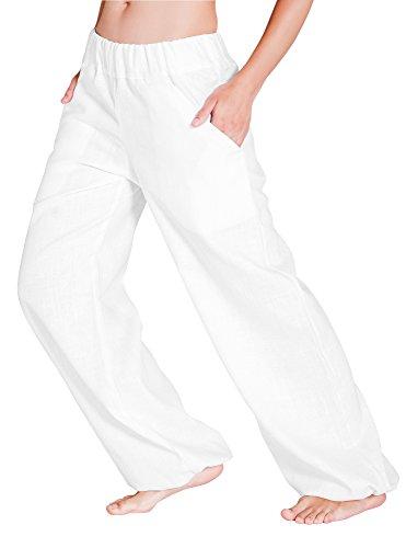 SCHAZAD Leinenhose Delight (M, weiß)