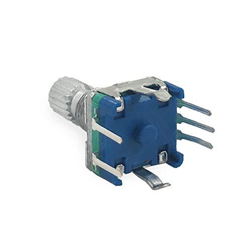 PENGYMY Potenciómetro 5pcs codificador rotatorio, Interruptor de código/potenciómetro Digital EC11 / Audio, con Interruptor, 5pin, Longitud de manija 15mm