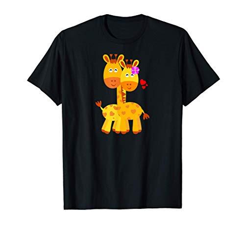 JIRAFA Parejas Regalo Boda Aniversario San Valentín Original Camiseta