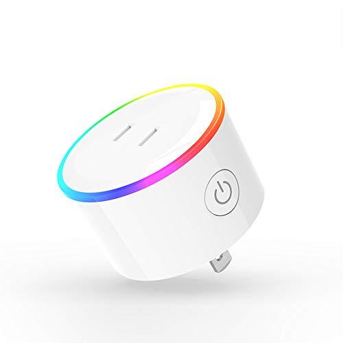 Mothcattl Home Wifi control remoto de voz, aplicación, temporizador, enchufe inteligente, al mismo tiempo con Alexa Ifttt