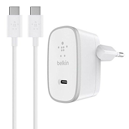 Belkin - Chargeur Secteur avec Câble USB-C pour Smartphone/Tablette - 15 W - 1,5m - Blanc (Compatible avec Samsung Galaxy S9/S9+)