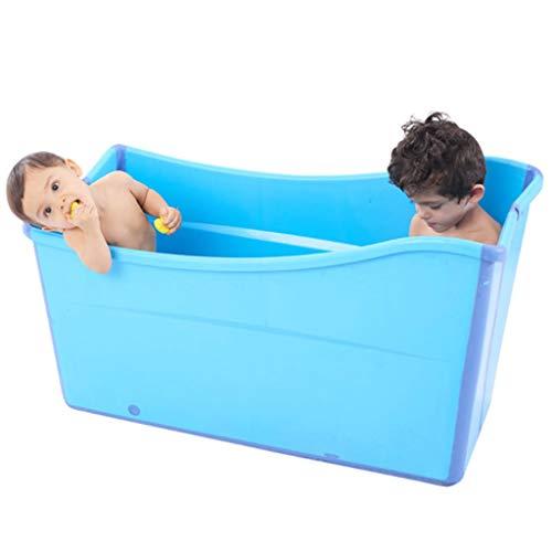 GLokpp Adulto bañera Plegable plástico del bebé Piscina for los niños Baño Barril Hogar Grande portátil de hidromasaje, recién Nacido Adicional Support- Extremadamente Ligero y Plegable (Color : A)
