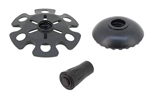 PAMEX – reservepads voor wandelstokken – antislip stopper/beschermers voor wandelstokken – rozetten en rubberen dop.