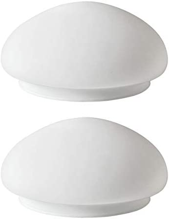 White Mushroom Glass Shade Classic Ceiling Fan Light Covers Replacement White 7 1 2 Pack product image