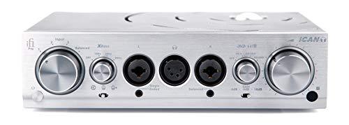 iFi Pro iCAN Amplificatore da studio per cuffie completamente bilanciato/Pre line amplificatore/Linestage selezionabile a valvole e a stato solido