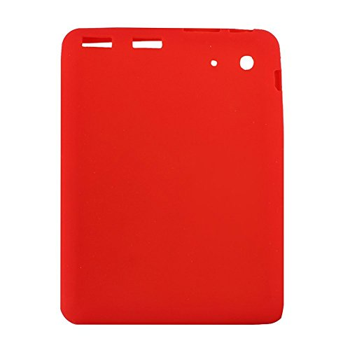 NSSTAR Soft Silicone Slim 8 Inch Android Tablet Protective Back Case Cover for ProntoTec 8' PT-T8-WHT,ProntoTec 8' PT-8IN-WHT,Simbans S81W 8', WoPad 8' Dual Camera, TURCOM 8' Tablet PC (Red)