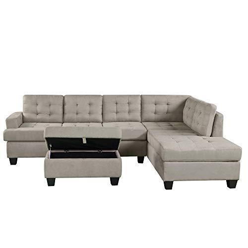 Se puede entregar dentro de Troika a los días de Heptad, el sofá en forma de L muebles de la habitación, desabrochable, sin complicaciones, de moda, sofá de tres asientos, sofá modular (con cabina y g