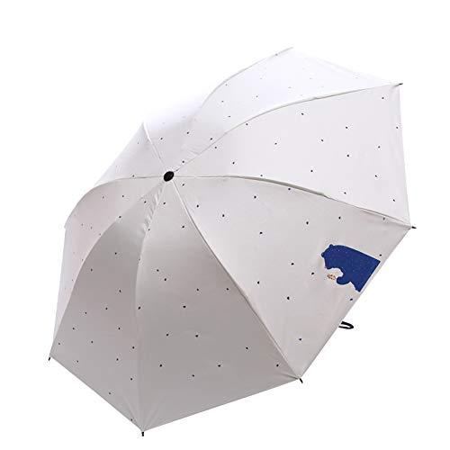 Monbedos Faltbarer Sonnenschirm für unterwegs, UV-Schutz, Cartoon Mini für den Sommer beige beige 98 cm