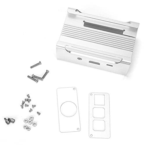 Estuche De Aleación De Aluminio De Tercera Generación para Raspberry Pi, Procesamiento De CNC Duradero Estuche Protector De Metal Raspberry Pi 2B Y Rpb +(Plata)