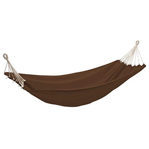 vidaXL Hamac Jardin Couleur Chocolat Balancelle Transat Terrasse Lit Suspendu