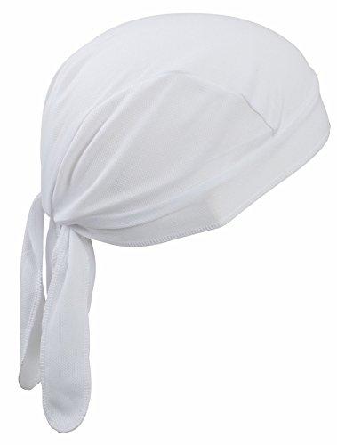 2Store24 Bandana Cap Atmungsaktiv/Funktions Bandana Cap in weiß