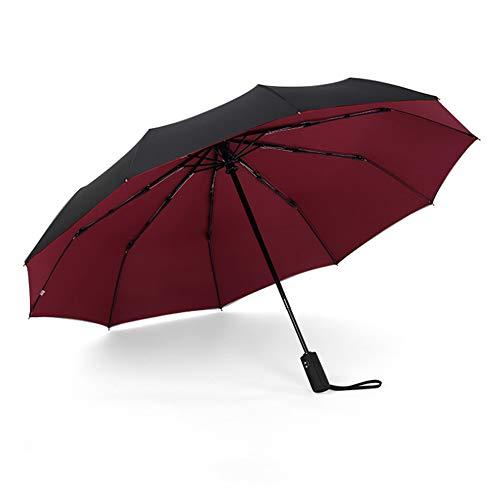 LQJZQ Business Regenschirm, Doppelschicht Zehn-Knochen Automatikschirm Regendicht Sonnencreme Anti-Regen Regenschirm OberfläChe ErhöHen