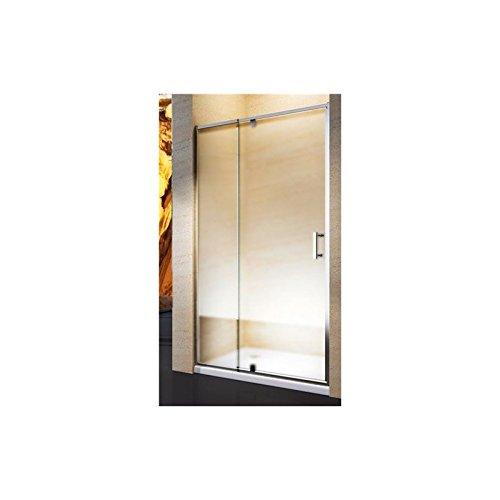 Yellowshop. Cabina de ducha/ baño. Puerta de mampara batiente y reversible de cristal templado de 6mm, transparente o esmerilado. Tamaños: 68,78,80,88, 90,100cm (de 88hasta 100 cm, transparente).