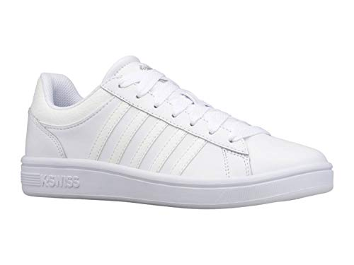 K-Swiss Court Winston, Zapatillas para Mujer, Reptile Blanco, 36 EU