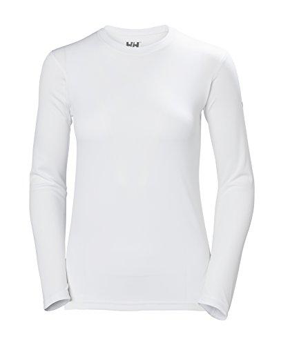 Helly Hansen W HH Tech Crew Camisa Deportiva, Mujer, Blanco (Blanco 001), Small (Tamaño del Fabricante:S)