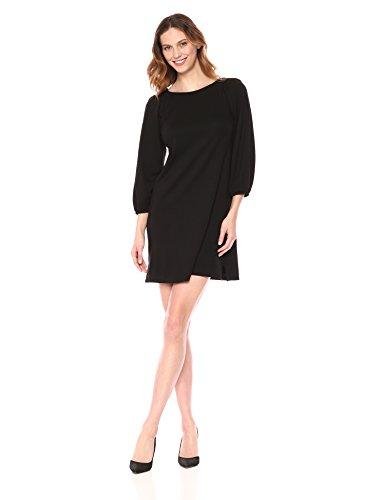 Eliza J Women's Balloon Sleeve Shift Dress Casual, Black, 14
