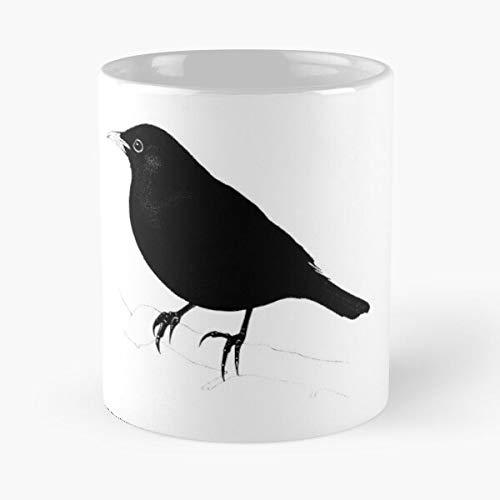 VinTageE Blackbird Dark Bird Australian Felt Music Black Avian Best 11 oz Kaffeebecher - Nespresso Tassen Kaffee Motive