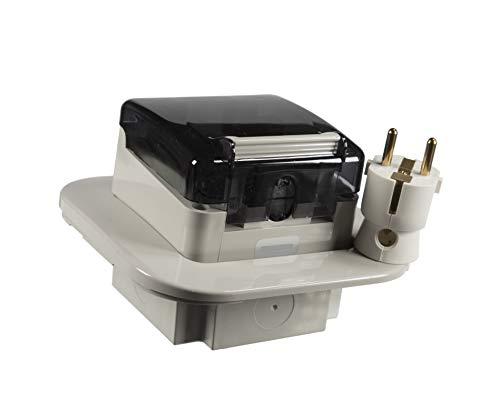 Unterputz Schuko Feuchtraum Steckdose IP66 Hergestellt in der EU mit passende Stecker (Unterputz)