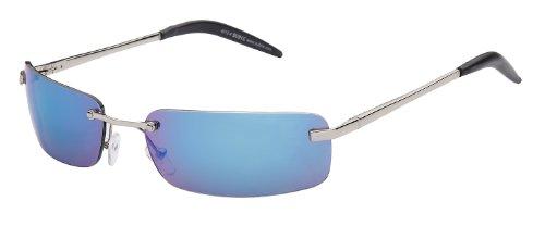 Subke Sonnenbrille Evolution mit Metallrahmen Art. 4012-4 Rahmen: silber, Gläser: blau verspiegelt