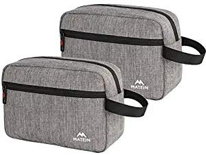 Travel Toiletry Bag, (2 Packs) Travel Toiletry Organizer Small Dopp Kit,Nylon Travel Kit Bag Canvas Waterproof Shaving Bag for Men with TSA approved,Hanging Toiletries Bag for Business Trip Vacations