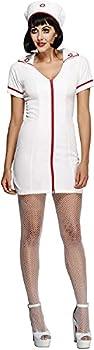 Smiffys womens Fever No Nonsense Nurse Costume,White,S - US Size 6-8