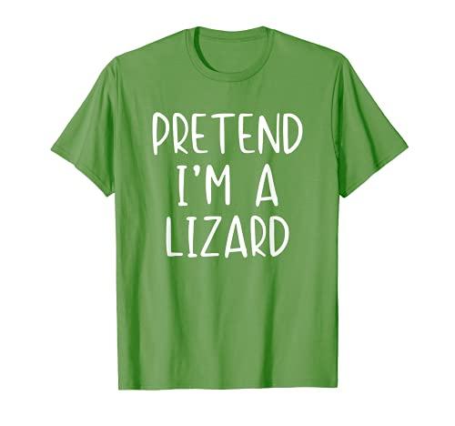 Disfraz de lagarto de Halloween Lazy Easy Camiseta