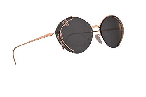 Prada Frau PR60US Sonnenbrille w/Dunkelgrau Tamp Ibiscus Rose Gold 63mm Objektiv SVF238 PR 60US SPR 60U SPR60U Pink Gold groß