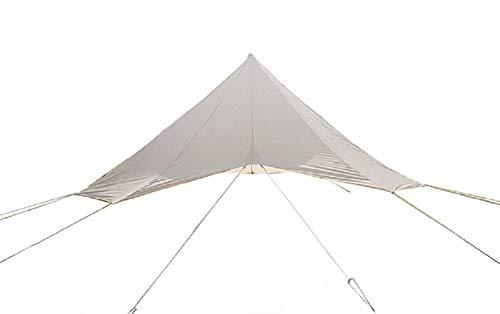 DANCHEL OUTDOOR Rain Fly Ripstop Camping Tent Tarp Waterproof, Portable Tent Rain Cover Sun Shelter for 16.4ft Yurt Tent Accessories Beige