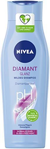 NIVEA Diamant Glanz Mildes Shampoo (250 ml), pflegendes Haarshampoo mit Diamantpartikeln, intensives Pflegeshampoo für normales und stumpfes Haar