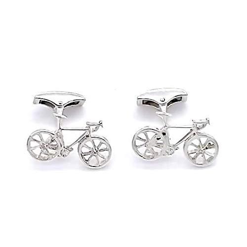Huescar Joyeros Gemelli a forma di bicicletta in argento Sterling, fabbricazione artigianale