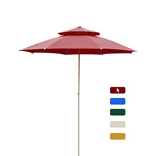 WGFGXQ Paraguas de Patio de 7 pies, con manivela de Ajuste y 8 Varillas Resistentes, sombrillas de Mesa de Mercado de Tela Resistente a la decoloración para jardín/Exterior (Color: Amarillo)