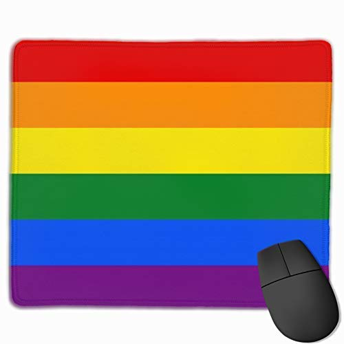 Mouse Pad Gay Pride Flag Rainbow Mouse Pad Mouse Mat Non-Slip Gaming Mousepad Waterproof Mouse Pad (25x30cm)