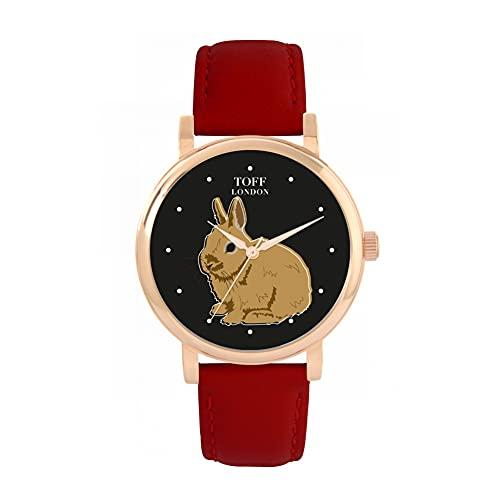 Toff London Reloj Marrón Conejo Enano Netherland