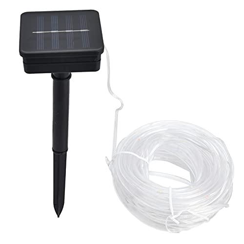 Gaeirt Luz Solar para Decoración De Jardín, 8 Horas De Uso Envoltura De Manguera De PVC Fuente De Energía Solar 8 Modos De Iluminación Luz De Cuerda Solar para Luces De Decoración De Jardín