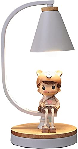 DZCGTP Lámparas de Mesa Lámparas de Mesa industriales , Mesita de Noche Lámparas de Escritorio con Pantallas de Hierro Forjado para Dormitorio Dormitorio Sala de Estar Lámpara de Escritorio