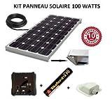 Kit panneau solaire 100w 12v camping car / bateau