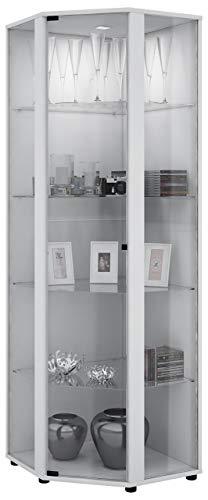 VCM Venedig Vitrine, Holzdekor, Weiß, 175 x 56.5 x 56.5 cm