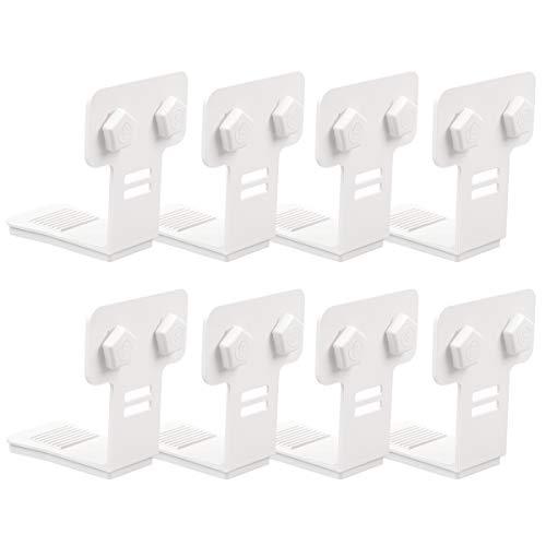 ZHOUBIN Matratzen-Bettlakenhalter, 8 Stück Spannbetttuch-Halterungen mit Knopf, vertikale rutschfeste Blatt-Greifer machen die Laken einfach anzubringen.
