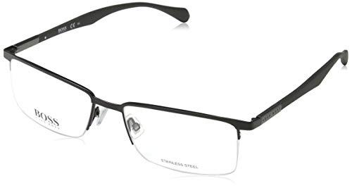 Hugo Boss Herren BOSS 0829 YZ2 55 Sonnenbrille, Schwarz (Matt Black)