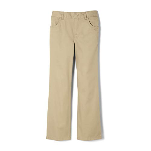French Toast Big Girls' Pull-On Pant, Khaki, 8