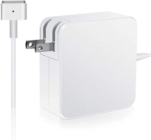 Mac Book Air Charger for 11 inch and 13 inch After Mid 2012, AC 45W Magnetic Power (T-tip) Shape Connector Power Adapter (White)