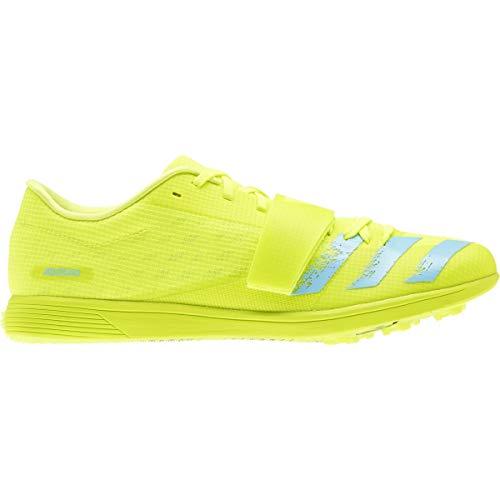 adidas Adizero TJ/PV Cleat - Unisex Track & Field Solar Yellow/Clear Aqua/Core Black