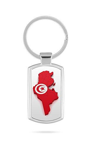 Schlüsselanhänger mit Gravur Wunschtext Name Tunesien Fahne