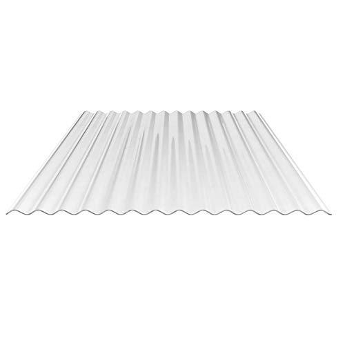 Lichtplatte | Wellplatte | Lichtwellplatte | Material Acrylglas | Profil 76/18 | Breite 1045 mm | Stärke 1,8 mm | Farbe Glasklar
