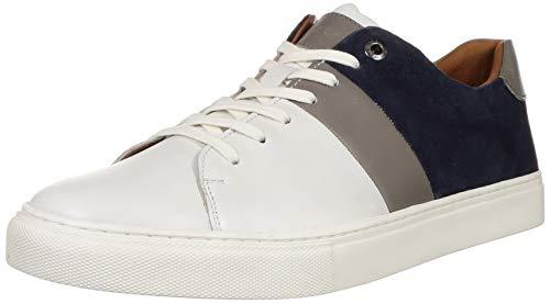 Levi's Men Bern Navy Blue Leather Sneakers-9 UK (43 EU) (10 US) (38099-1799)